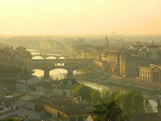 Florence Italy from the Piazza Michaelangelo high above the city