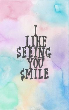 when i see you smile, i think to myself that i want to be the reason you keep smiling for the foreseeable future. You Smile, Happy Smile, You Make Me Smile Quotes, His Smile Quotes, Quotes To Live By, Love Quotes, Inspirational Quotes, Cute Quotes For Your Crush, Momma Quotes