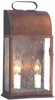 Andover Colonial Wall Sconce Copper Lantern