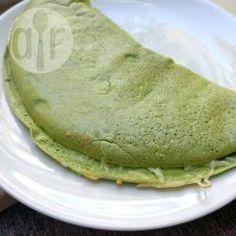 Crepioca de espinafre @ allrecipes.com.br - Almoço ou lanche rápido, saudável, sem glúten e com bastante proteína.