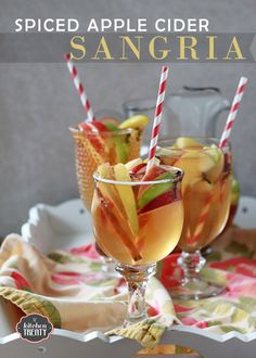 Spiced Apple Cider Sangria from @Kara Morehouse Morehouse Morehouse Morehouse Fransisco (Kitchen Treaty)