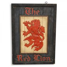 Pub Signs | Home » Props » Signs » The Red Lion Pub Sign