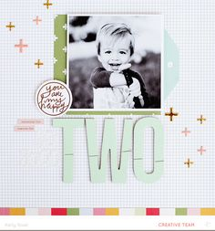 #papercrafting #scrapbook #layout  Two * Main Kit Only* by Kelly Noel at @studio_calico
