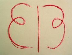Waldorf ~ 1st grade ~ Form Drawing ~ Loop Symmetry ~ main lesson book