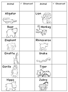 FREE Going to the Zoo Printable Checklist!