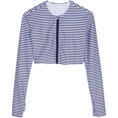 a755d067f3f Women s Crop Top Long Sleeve Zipper Rash Guard with UPF 50+ UV Sun  Protection