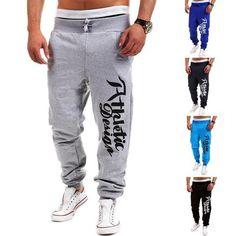 2016 New Fashion Letter Print Harem Pants Sweat Pants Men Trousers Sportswear Jogger Pants Outdoors Joggers Men Best Mens Joggers, Mens Jogger Pants, Men Trousers, Sports Trousers, Jogger Sweatpants, Men Pants, Sweat Pants, Style Casual, Men Casual