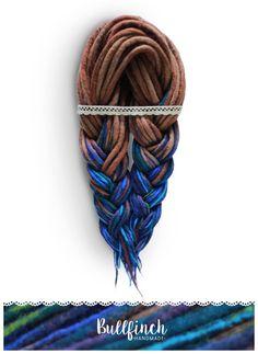 Wool dreadlocks 40 DE Deep sea turquoise by BullfinchHandmade #wooldreads  #woolies #dreadlocks #dreadextensions #handmade #felting