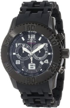 Invicta Men's 6713 Sea Spider Collection Chronograph Black Ion-Plated Watch - http://www.specialdaysgift.com/invicta-mens-6713-sea-spider-collection-chronograph-black-ion-plated-watch/