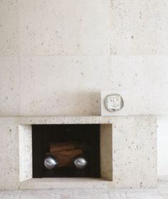 Ultramodern Samuel Marx - fireplace made of fossil stone, one of Marx's favorite materials.