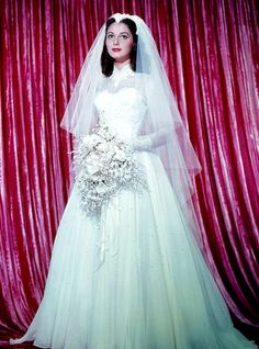 Wedding dress inspiration: Actress Pier Angeli, November 1954