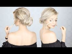 Super Simple Updo | Perfect for Long, Medium, AND Short hair - YouTube