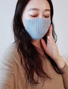 필터교체 마스크 만들기 (도안,영상첨부)_코바늘 손뜨개 마스크 : 네이버 블로그 Crochet Mask, Crochet Faces, Knit Crochet, Chinese Mask, Knitted Hats, Stitch, Knitting, Womens Fashion, Crafts