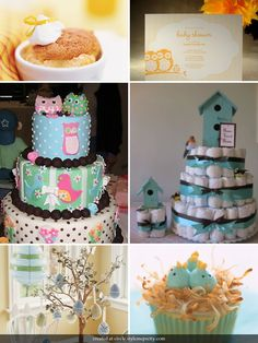 The Life and Love of a London Couple: Bird and Owl themed baby shower Kylie Baby Shower, Baby Shower Games, Baby Showers, Baby Bear Cub, Baby Owls, Twin Diaper Cake, Cake Decorating Courses, Baby Shower Winter, Precious Children
