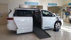 New Wheelchair Van For Sale: 2015 Toyota Sienna LE Wheelchair Accessible Van For Sale with a Rampvan XT on it. VIN: 5TDKK3DC9FS624846