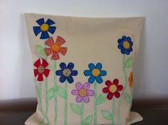 Flower cushion made for Lucy