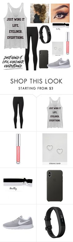 """QOTP: Do you wear makeup? If so, what do you wear?"" by annelieseoh ❤ liked on Polyvore featuring The Row, Chin Up, Forever 21, Kingsley Ryan, Apple, NIKE and Fitbit"