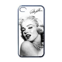 iPhone 4 Case Marilyn Monroe White Apple iPhone 4 by CafilaShop, $15.59