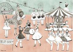 Illustration pour Enfant Déco thème Musique Fanfare Majorette