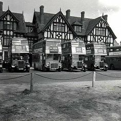 RT and RM Buses on Bus Stand. Royal Forest Hotel Chingford.