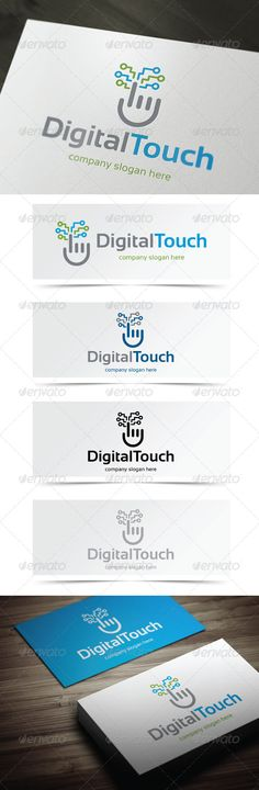 Digital Touch - Logo Design Template Vector #logotype Download it here: http://graphicriver.net/item/digital-touch/5355956?s_rank=164?ref=nesto