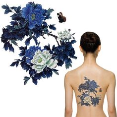 2015 New Waterproof temporary flower tattoos big temporary tattoos fake back Chinese peony pattern MQA27,High Quality album diy,China album mp3 Suppliers, Cheap album good from Your Shopping Time on Aliexpress.com