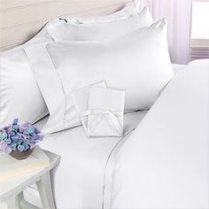 """8PC ITALIAN 600TC Egyptian Cotton DOWN ALTERNATIVE COMFORTER Bed in a Bag - Sheet , Duvet Queen White by Egyptian Cotton Factory Outlet Store. $189.99. Luxury 600TC 100% DOWN ALTERNATIVE Comforter, 750fp, 50oz, Allergy free.. This 8pc luxury bedding set is designed & crafted in ITALY.. ITALIAN 600TC long-staple Egyptian Cotton Sheet and Duvet Set. 1 Flat Sheet (96"""" x 104""""), 1 Fitted Sheet (60"""" x 80"""") and 2 Standard Pillow Cases (20"""" x 30""""). Beautiful Duvet Set : 1 Duvet Cove..."""