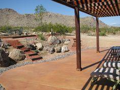 desert landscape Landscaping Ideas, Backyard Ideas, Tanning Salons, Desert Climate, Desert Design, Outdoor Spaces, Outdoor Decor, Desert Homes, Desert Landscape