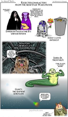 Your Favorite Rejects from the New Star Wars - http://dashburst.com/star-wars-character-rejects-comic/