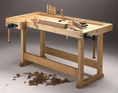 European-style woodworking  workbench plan