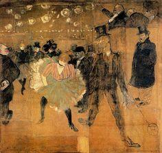 Henri de Toulouse-Lautrec - Baile en el Moulin Rouge, La Goulue et Valentin le Desossé, 1895
