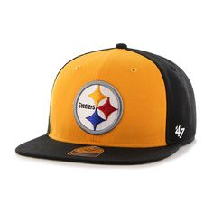 c4d0d6bf6d69db Pittsburgh Steelers Super Move Captain Black 47 Brand Adjustable Hat