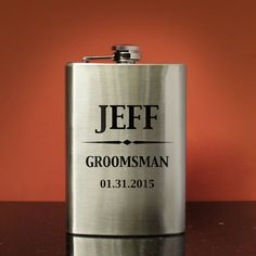 Personalized Stainless Steel Flask with Design Options and Font Selection with Monogrammed Shot Glass & Gift Wrap Options (Each-8 oz. Flask) by DesignstheLimit #TrendingEtsy