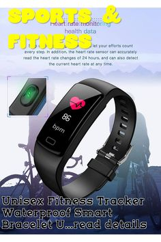 (This is an affiliate pin) Unisex Fitness Tracker Waterproof Smart Bracelet USB Rechargeable Activity Tracker Watch & Heart Rate Monitor Step Calorie Counter Pedometer Call Notification Message Reminder Activity Tracker Watch, Best Fitness Tracker, Calorie Counter, Smart Bracelet, Heart Rate Monitor, Smart Watch, Fitbit, Usb, Unisex