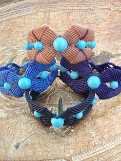 Macramé Bracelets with turquoise beads
