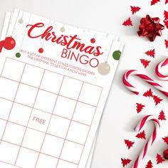 Christmas Bingo Game, Christmas Games Printable, Christmas Party, Instant Download, Christmas Gift, Kids games, Xmas games, Holiday party Christmas Bingo Game, Thanksgiving Bingo, Xmas Games, Christmas Printables, Games For Kids, Easter Bingo, Valentine Bingo, Printable Bingo Games, Christmas Mood