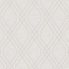 Seabrook Diamond Geo Beige And Silver Glitter Wallpaper - Sample - Seabrook Diamond Geo Beige And Silver Glitter Wallpaper / Diamond Geo / Beige and Silver Glitter