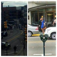 """First look at Gal Gadot as Wonder Woman's alter ego Diana Prince on the set of """"Batman vs Superman: Dawn of Justice"""""""