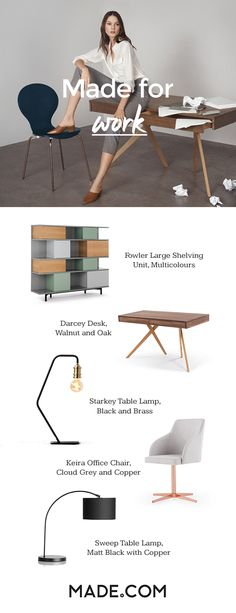 How to create a productive workspace? Start with the right furniture. Made for work