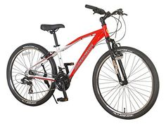 Ferrari Alloy MTB Series 24speed Front Suspension Mountain Bicycle Bike RedWhite * Check this awesome product by going to the link at the image.