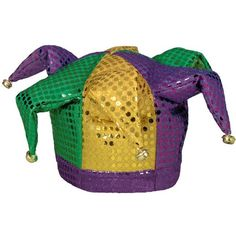 Beistle Deluxe Plush Mardi Gras Jester Hat with Bells