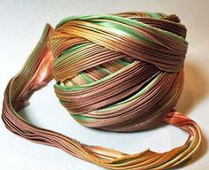 Shibori Silk Ribbon - Fall Borealis