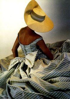Oscar de la Renta for Balmain stripe dress