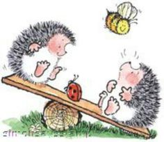 Penny Black Hedgies at play