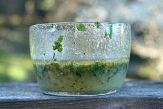 Vinagreta o aderezo de limon y cilantro