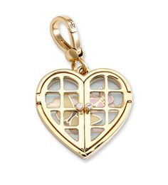 Heart with butterflies , Joucy Couture charm.