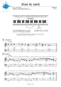 Partition vive le vent - Partition de piano pour Noël