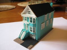 N Scale Built 3 Story Row Town House w Lite Weathering B | eBay