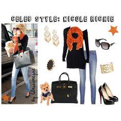 Celeb Style: Nicole Richie, created by lilmissmegan on Polyvore