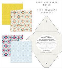 mini envelope template